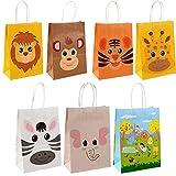 Simmpu 21 Pack Jungle Safari Favor Bags Sacchetti Regalo Animali Sacchetti per Feste di Compleanno Animali Dello Zoo per Bambini