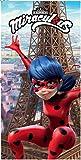 Chat Noir Drap de Plage Ladybug Serviette de Bain Miraculous 140x70 cm