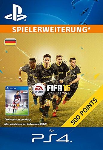 500 FIFA 16 Ultimate Team Points [Zusatzinhalt][PS4 PSN Code - deutsches Konto]