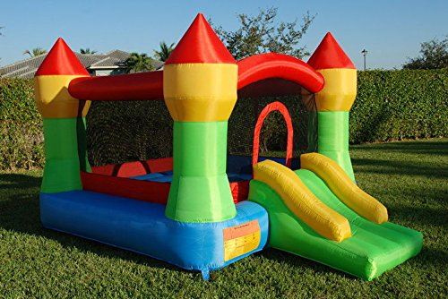 New Shop Inflatable Mighty Bounce House Moonwalk Bouncer Jumper Bouncy Jump Castle