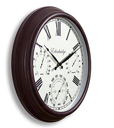 Horloge murale de jardin avec thermomètre, hygromètre...