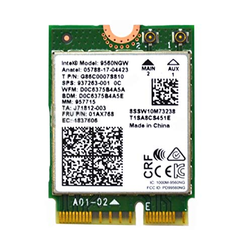 Intel 9560NGW Dual Band Wireless-AC 9560 Bluetooth 5.0 Tarjeta WiFi G86C0007S810