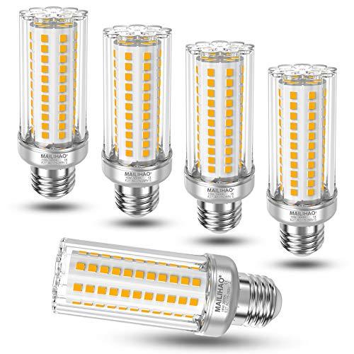 16W Lampadina LED E27, Equivalenti a 120W 150W Lampada Alogena, Luce Bianca Calda 3000K 1900LM, Edison Lampade Mais E27 Candelabro, Alta luminosità e Risparmio Energetico Non Dimmerabile, 5 Pezzi
