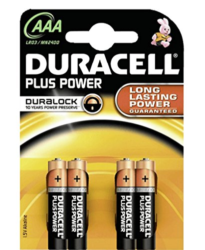 DURACELL Batterie Plus Power Micro AAA LR03 MN2400 1,5V Long Lasting Power 4 Stk