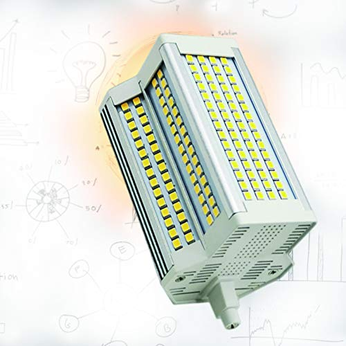 Bombilla R7S 118mm LED Dimmable 50W LED Bombilla J Tipo Doble Terminación 500W Halógena Bombilla 3000K-6000K R7S Bombilla LED para reemplazo de halógeno,White Light