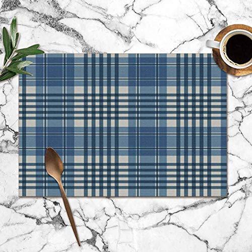 Tommy Warren Napperons, Plaid Design Couleurs Art Beauté Mode Napperons résistants à la Chaleur Tapis de Table lavables pour Cuisine Table à Manger
