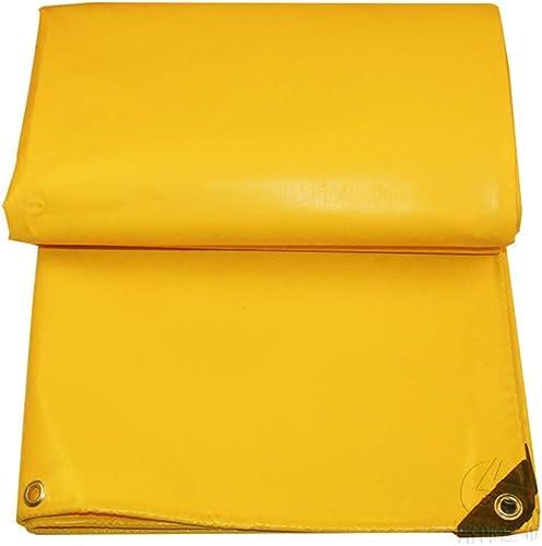 ZHANGGUOHUA Toile épaisse de Toile de Prougeection Solaire de Toile imperméable antipluie de Tissu imperméable de PVC de bache Jaune versé la Voiture extérieure Anti-UV (Couleur   jaune, Taille   3mx4m)