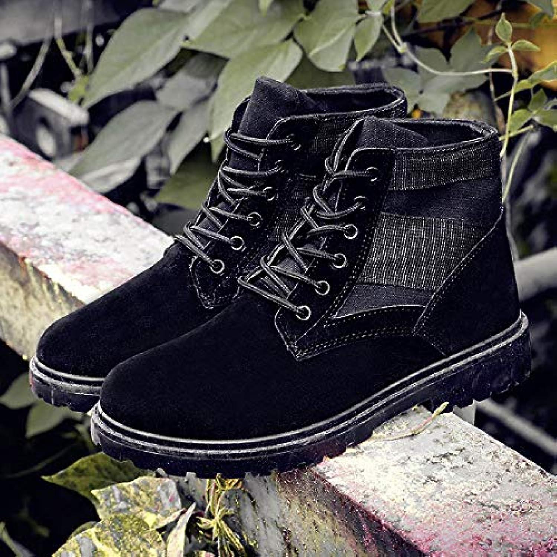 LOVDRAM Boots Men's Boots Men'S High Help Martin Boots Autumn Desert Boots Men'S Outdoor Breathable Tooling Boots Canvas Boots Men'S Boots