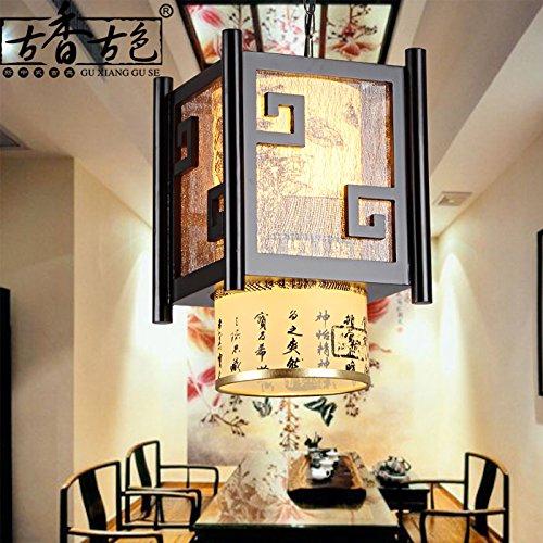 CHJK BRIHT Cinese classica di piccole luci pendente testa singola fondata balconi in legno luce corridoio ristorante corridoio lampade, sez. B) ristorante