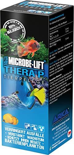 MICROBE-LIFT TheraP – Fischpflege Reinigungsbakterien, verhindert Krankheiten, unterstützt Wachstum von Tieren, Süß- und Meerwasser, 473 ml