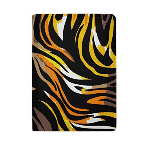 Tiger - Funda de Piel para Pasaporte, diseño de Rayas, Personalizable
