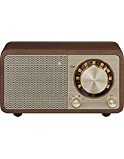 SANGEAN FMラジオ対応 ブルートゥーススピーカー ウォールナット WR-301 [Bluetooth対応]