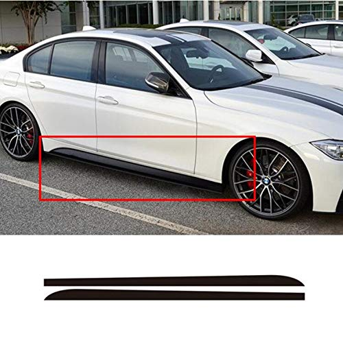 OUYAWEI 215cm Carbon Fiber Sticker Side Rok Auto Decal voor BMW E90 E92 E39 F10 F30 F31 Zwart