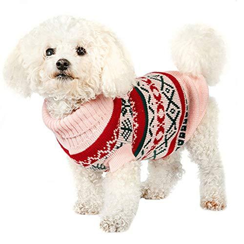 N / A CHENGCW Pet Hund Kleidung Xs-XL Kleine Hundepullover Warme Herbst Winter Hundekleidung Welpen Strickwaren Rollkragen Häkeln Hundemantel Chihuahua Yorkie