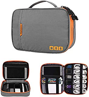 Acoki Travel Carry Bag,Double Layer Electronic Accessories Thicken Cable Organizer Bag Portable Case for Hard Drives, Cabl...