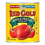 Red Gold Whole Peeled Tomatoes, 28oz Can (Pack of 12)