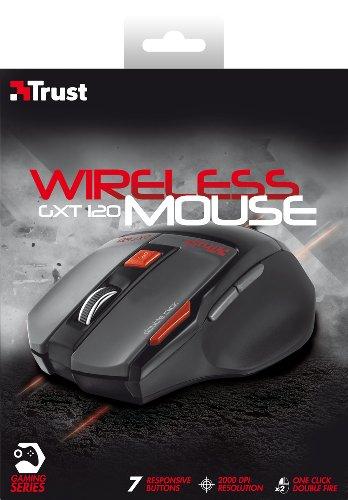 Trust GXT 120 Wireless Gaming Maus (2000 DPI, 7 Tasten, Doppelfeuer Taste)
