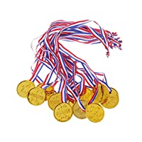 APPLICATION: Convient aux activités scolaires, aux accessoires photo. AVANTAGE: les médailles des gagnants sont en plastique, peuvent être appliquées comme encouragements et louanges, elles sont bonnes pour les soirées à thème, les fêtes sportives, l...