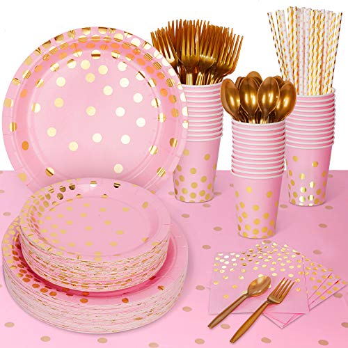 Decorlife Pink and Gold Party Suppl…