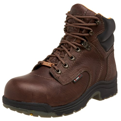 "Timberland Pro Women's Titan 6"" Waterproof Safety Toe Boot,Brown,6.5 M"