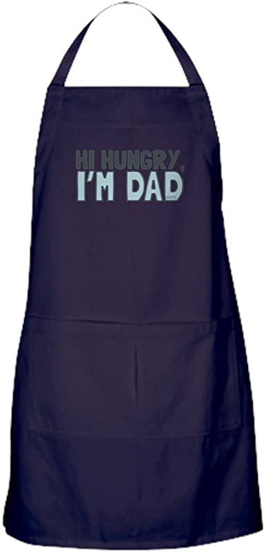CafePress Hi Hungry Im Dad Kitchen Apron With Pockets Grilling Apron Baking Apron