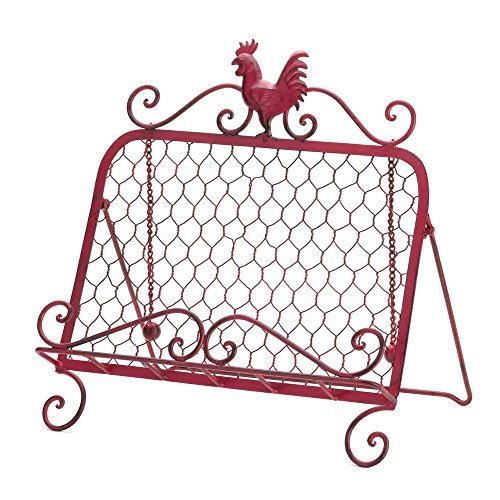 """Red Rooster Cookbook Stand 13x9x13.25"""""""