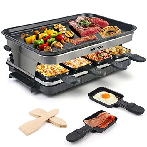 HengBO Raclette 8 Personas Parrilla Electrica Grill de...