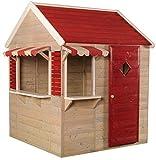 Wendi Toys M16 Beach Shop | Casa de jardín roja para niños | Casa Abierta de Verano con...