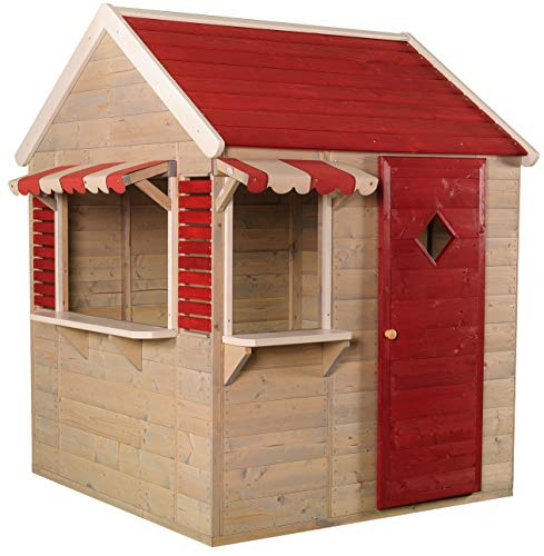 Wendi Toys M16 Beach Shop   Casa de jardín roja para niños   Casa Abierta de Verano con...