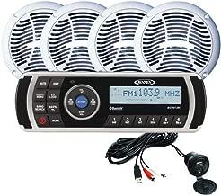 Jensen Cpm200 Am/Fm/Usb Waterproof, Bluetooth Stereo Package W/Ms2013bt, Aux Input & 4-Ams602w Speakers