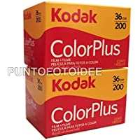 2 rodillos Kodak Color Plus 35 mm, 200/36-Conf. 2 unidades-Protector-Ruedecilla-fotografía