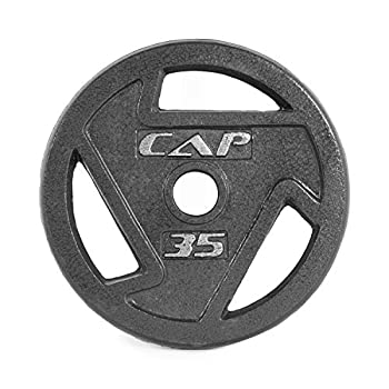 CAP Barbell 2-Inch Olympic Grip Weight Plates Single Black 35 Pound