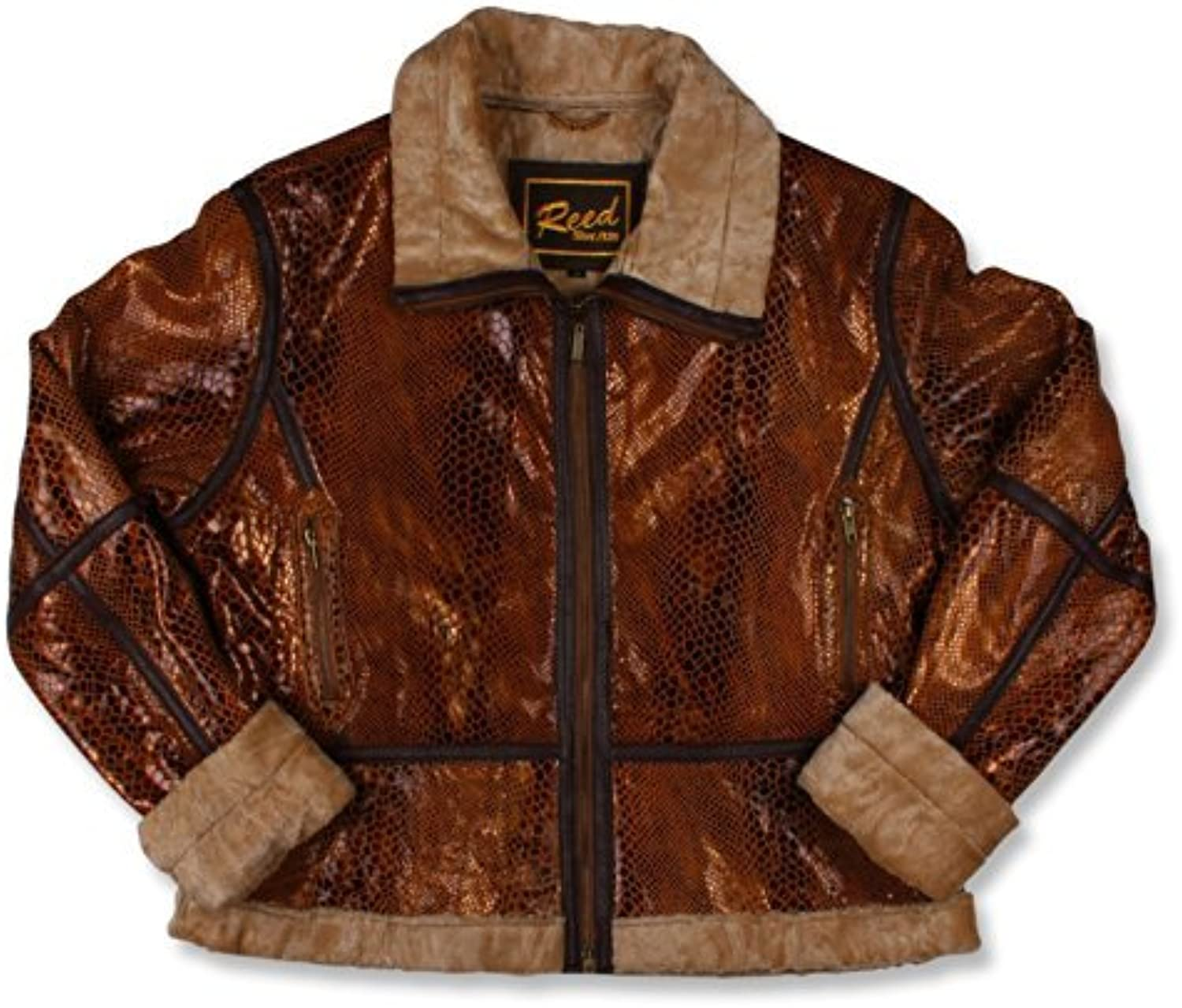 Reed Women's Snake Leather Jacket