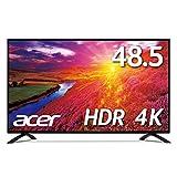 Acer 4K モニター ディスプレイ OmegaLine 48.5インチ EB490QKbmiiipfx IPS HDMIx3 DisplayPort HDR対応 スピーカー内蔵 ブルーライト軽減 リモコン付