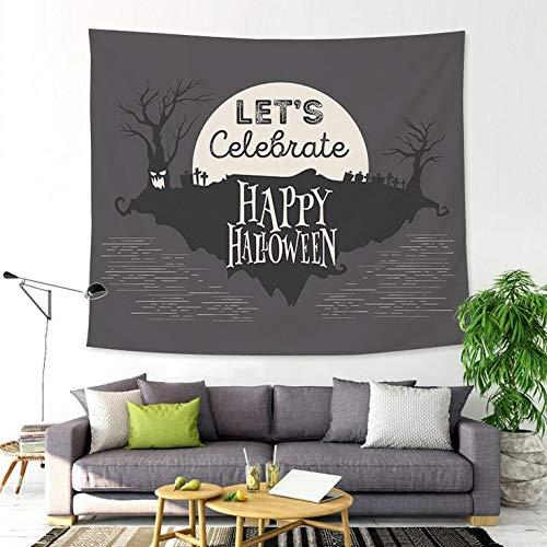 N / A Castillo de Halloween Tela de Calabaza Tapiz de Fondo Tela Colgante de Pared decoración del hogar Tapiz de Fondo decoración de Tela Tapiz A2 150x150cm