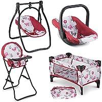 Litti Pritti 4-Piece Set Baby Doll Swing Chair Accessories