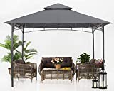 ABCCANOPY 11x11 Patio Gazebos for Patios Double Roof Soft Canopy Garden Backyard Gazebo for Shade and Rain, Dark Gray