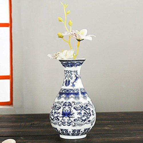 Kicode Antico Montaggio a Parete Vasi di Porcellana Tradizionale Cinese Blu Bianco Ceramica Rara Dipinta a Fiori Decorazioni per la casa