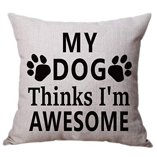 Fashion Lovely Pillow Case,Best Dog Lover Gifts Cotton Linen Throw Pillow Case Cushion Cover