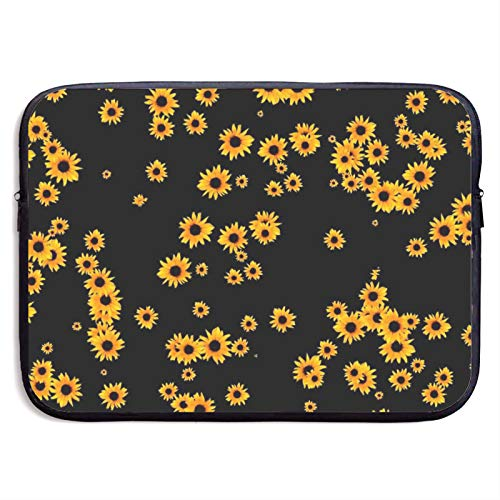 Waterproof Laptop Sleeve 15 inch, Sunflower Floral Business Briefcase Protective Bag, Computer Case Cover for Ultrabook, MacBook Pro, MacBook Air, Asus, Samsung, Sony, Notebook
