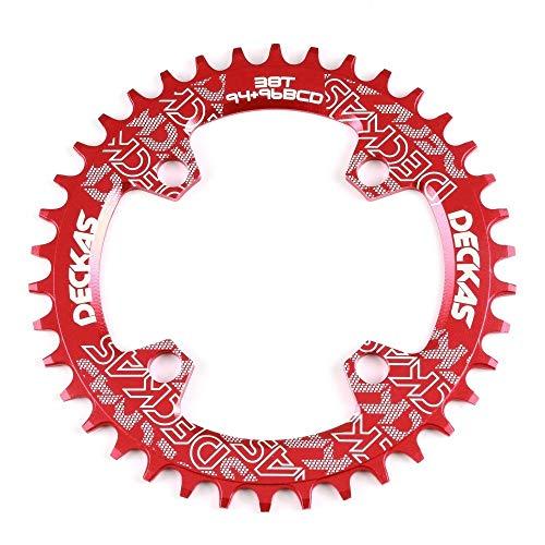 Denkqi 94 + 96 BCD Bicicletas Chainwheel 32T 34T 36T 38T MTB Plato Montaña Corona Oval Redondo/Ajuste for M4000 M4050 GX NX X1 Crank (Color : Round 34T Black)