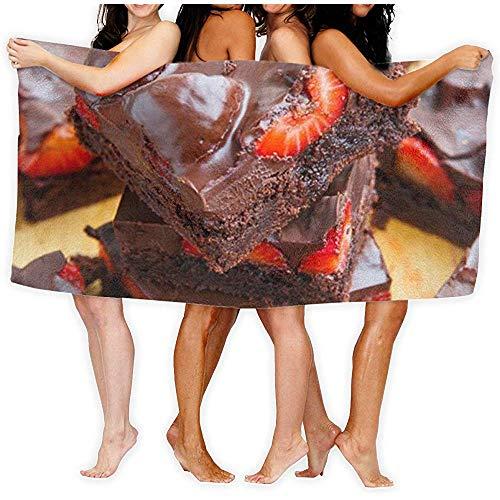 badhanddoek Aardbei Brood Gedrukt Hotel Gebruik Spa Bad Handdoek Douche Wrap Home Beach Reizen Badkamer Body Handdoeken
