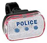 M-Wave Blue LED Bicycle Taillight White/ Blue, Universal Fit