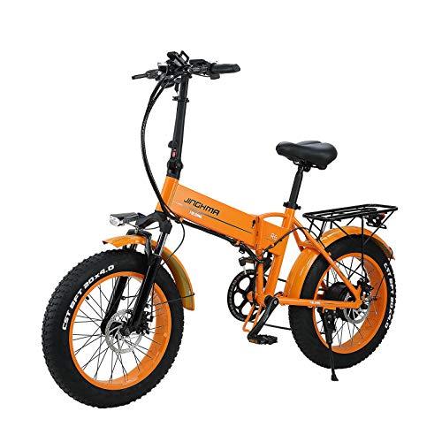 SONGZO Bicicleta Eléctrica 500W 20 Pulgadas Bicicleta de Montaña Plegable con Neumáticos Gordos con Batería de Litio de...