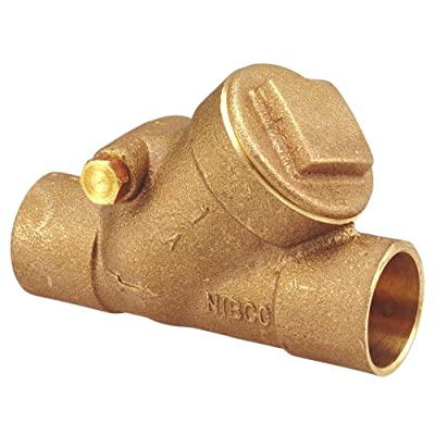 "NIBCO S-413-Y Cast Bronze Check Valve, Silent Check, Class 125, PTFE Seat, 1"" Female Solder Cup from NIBCO"