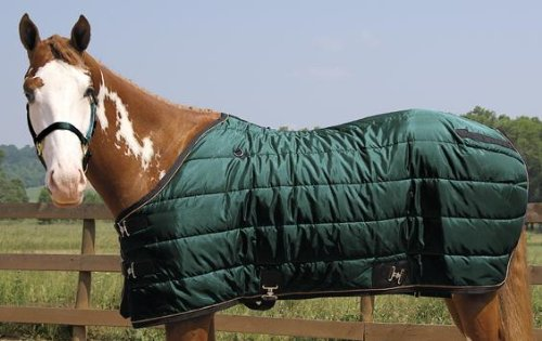 "Weaver Heavyweight Quilted Winter Stable Blanket (300 Grams) - Size:84"" Color:Hu"