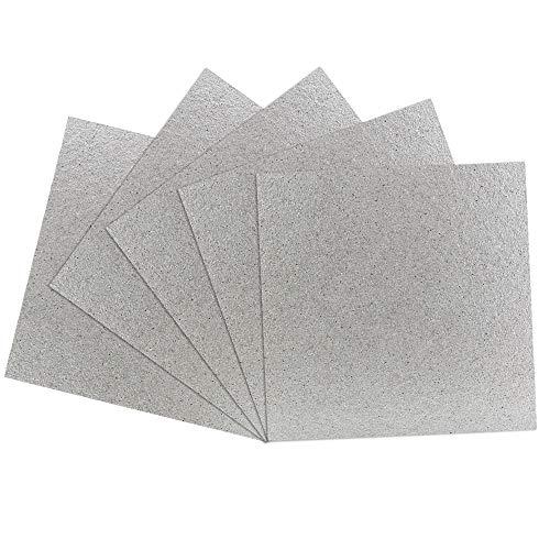 BUZIFU 5pcs Glimmerscheibe für Mikrowellen, 13 x 13cm, Ersatzglimmerblätter