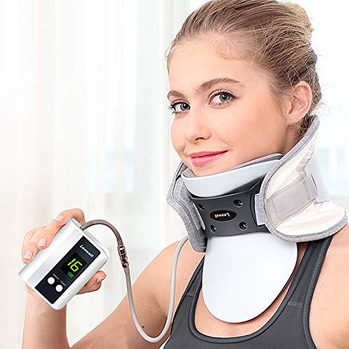 Leawell Collare Trazione Cervicale Alleviare Dolore A Testa E Spalle Cura Scientificamente del Collo,Trazione Collo Automatica Corregge la Postura del Collo