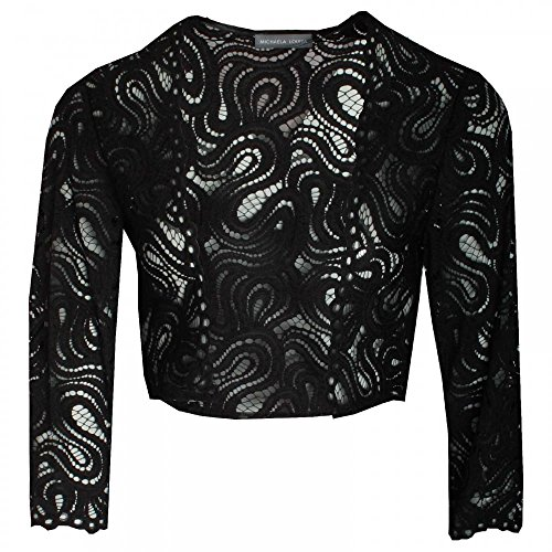 Michaela Louisa Women's Delicate Lace Bolero 8 Black
