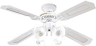 シーリングファンライト 42インチ シーリングファン シーリングライト LED電球対応 E26口金 4灯 リモコン付 天井 照明 冷暖房効果